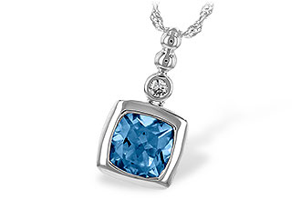 A216-41222: NECK 1.45 BLUE TOPAZ 1.49 TGW